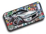 Koolart STICKERBOMB STYLE Design For Retro Mk2 Vauxhall Astra GTE Hard Case Cover Fits Apple iPhone 4 & 4s